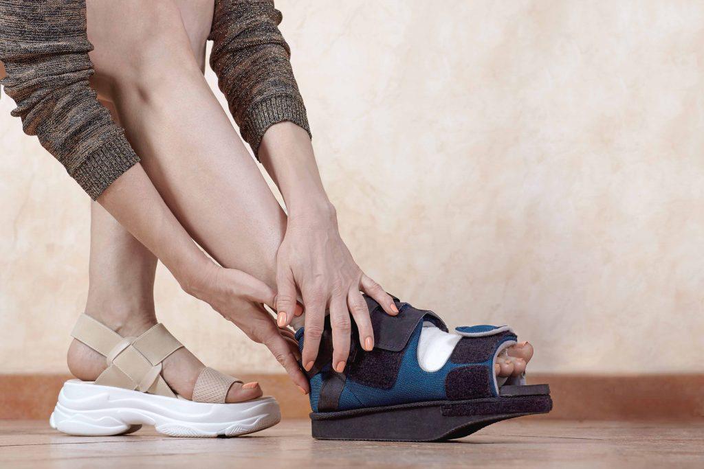 CHUT de decharge de l'avant pied